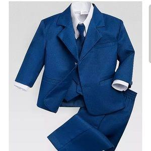 Toddler cobalt blue three piece suit